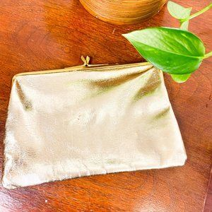 3/$20 Vintage Jane Shilton Clutch Gold